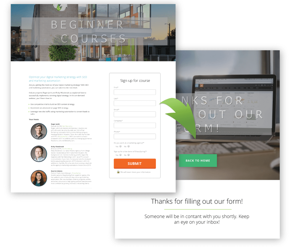 features-landing-pages-funnels